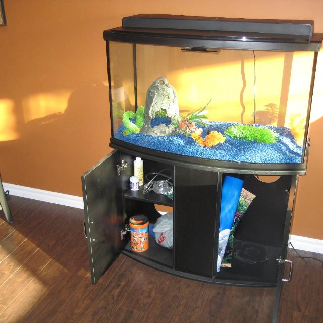 Find more 45 gallon bow front fish tank set for sale at up for Buy fish tank