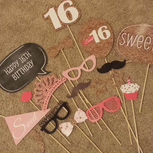 Find More Sweet 16 Photo Booth Props For Sale At Up To 90 Off