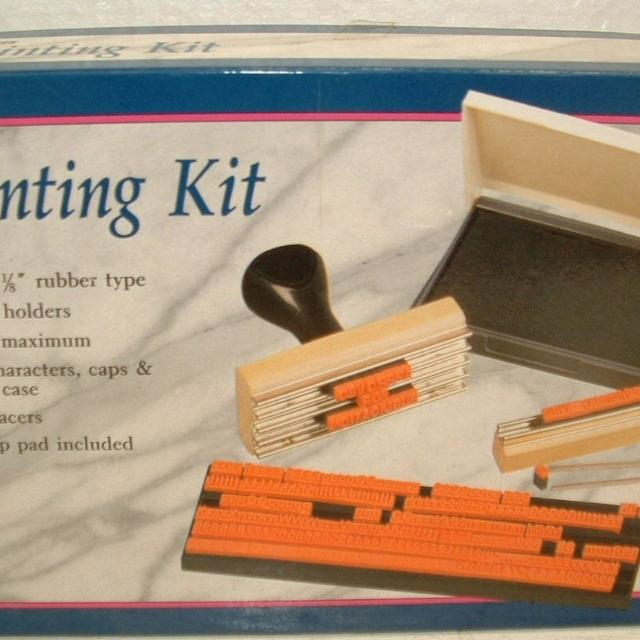 find more w t rogers printing kit make your own rubber stamps for