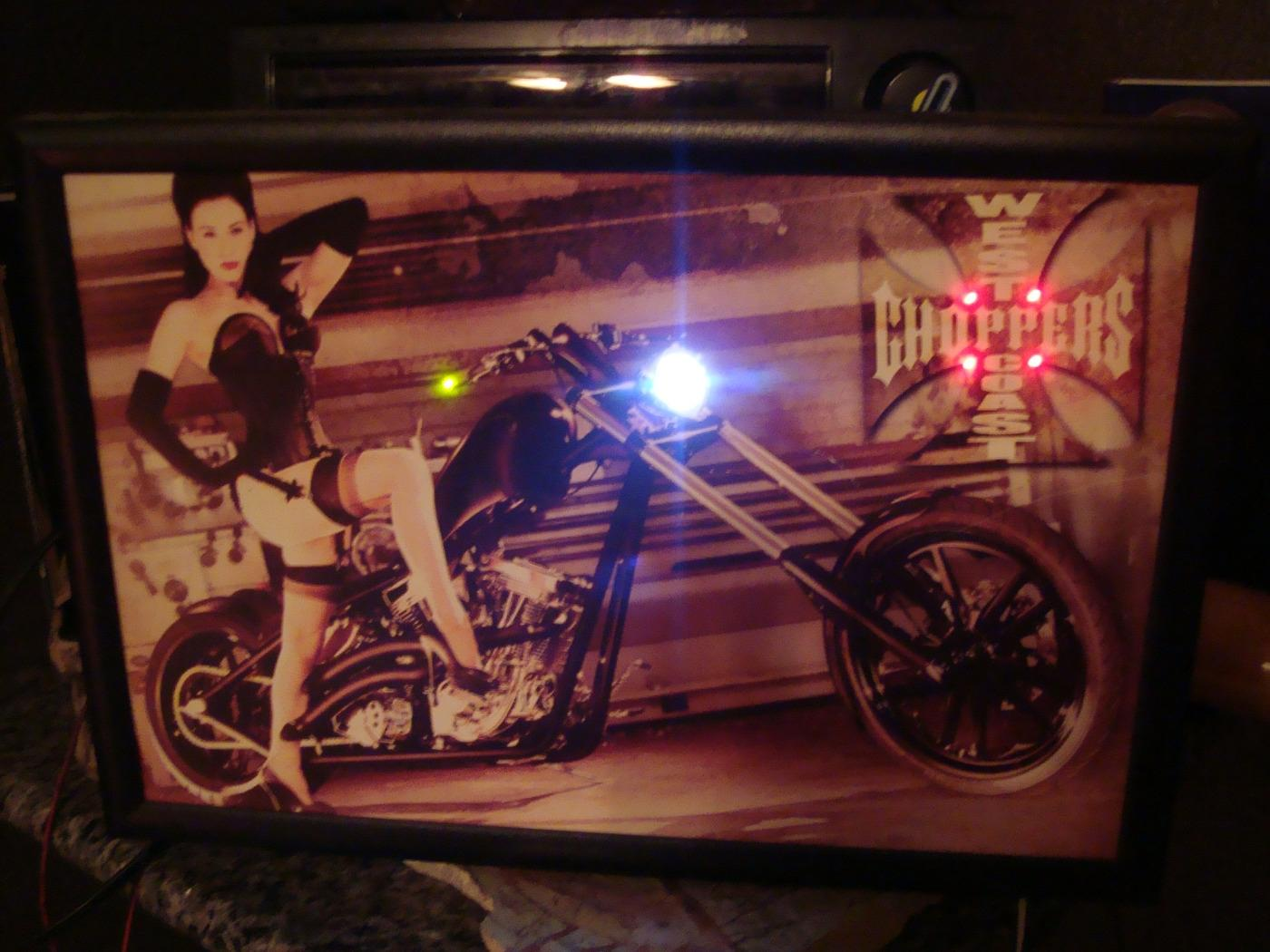 West Coast Choppers LED picture 13x19   make offers!