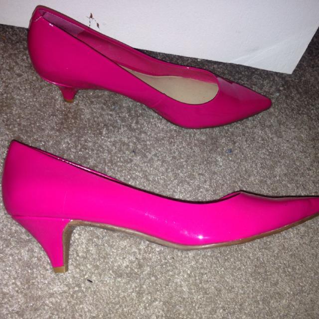 Hot Pink Kitten Heels