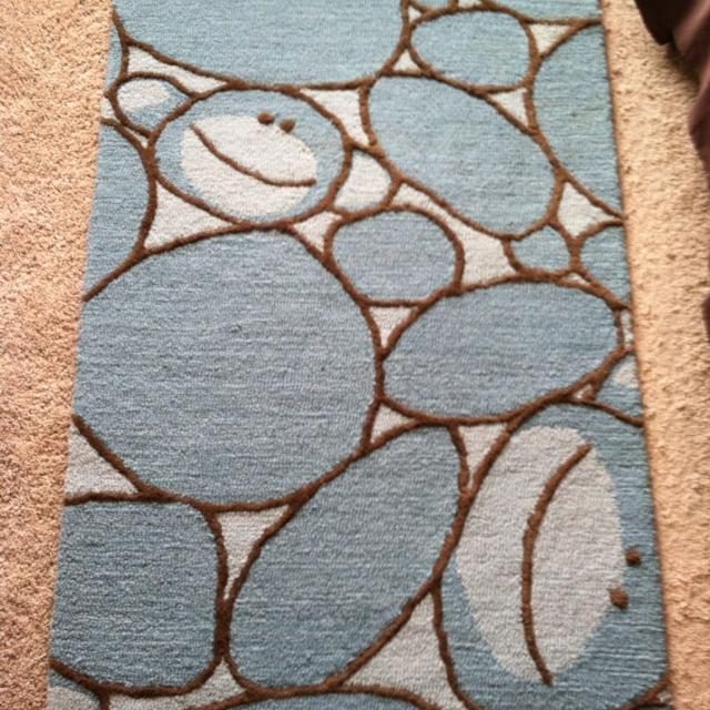 Reduced Pottery Barn 3x5 Monkey Rug For Nursery Boy Room