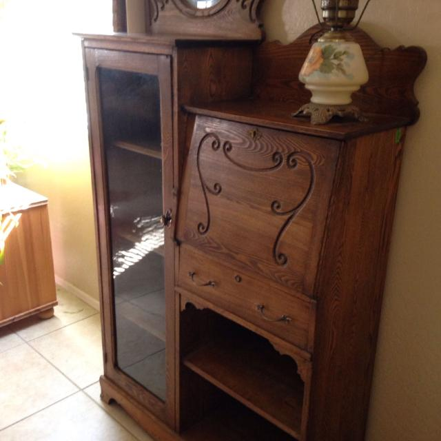 Pre 1900 cir Side by Side Antique Secretary Desk - Best Pre 1900 Cir Side By Side Antique Secretary Desk For Sale In