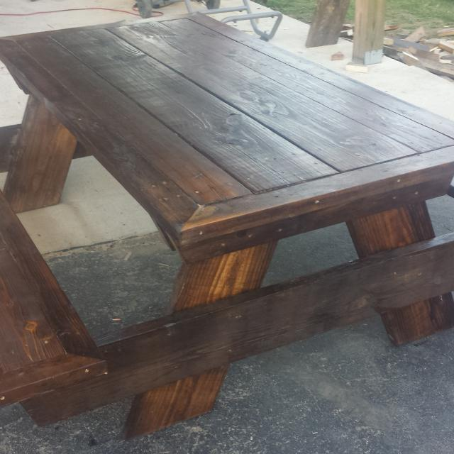 Treated Picnic Table Table Design Ideas - How to stain a picnic table