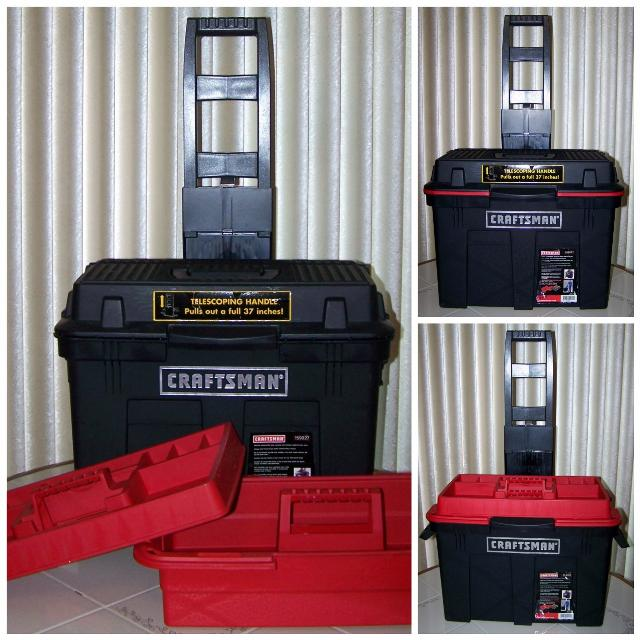 Large Craftsman Sit/Stand/Tote Truck Rolling Wheeled Tool Box  Great for  Father's Day or Summer Camp!