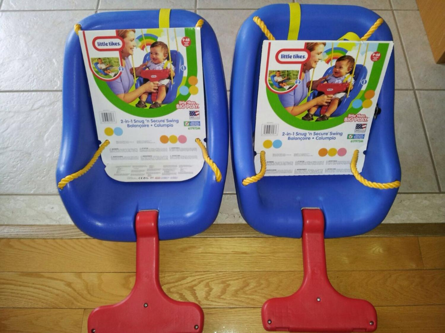 Only One Left Little Tikes 2 In 1 Snug N Secure Swing New With Packaging Blue For Kids 9 Months To 4 Years Old