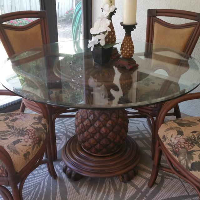 Best Gl Top Table With Solid Wooden Pinele Base 4 Custom