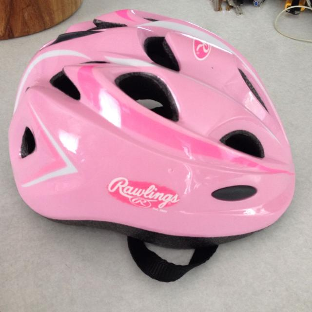 Find More Girls Bike Helmet Worn Three Times Too Small Suited