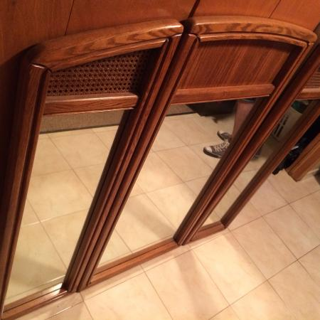 """3 PC oak framed mirrors. Size 47"""" x 54"""" for sale  Canada"""