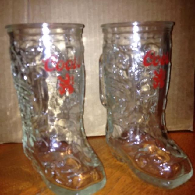 Find More Coors Cowboy Boot Mugs Steins Set Of 2 For Sale At Up To