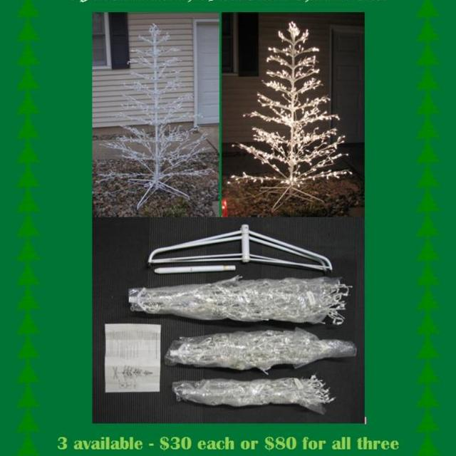 Best 6 Foot Illuminated White Metal Outdoor Christmas Trees For Sale