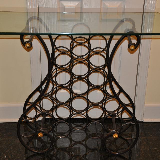 Find more Bombay Company Glasstop Wine Rack for sale at up ...