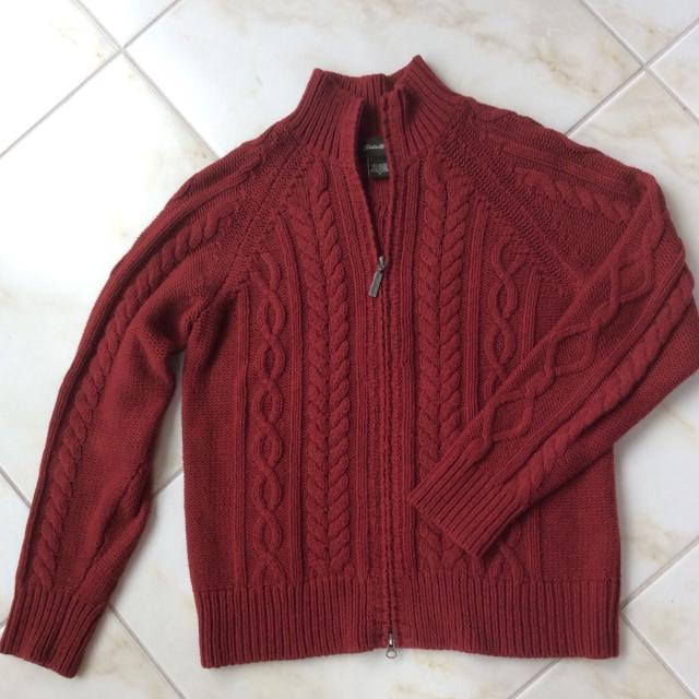 Find More Gorgeous Cotton Cable Knit Eddie Bauer Sweater With Two