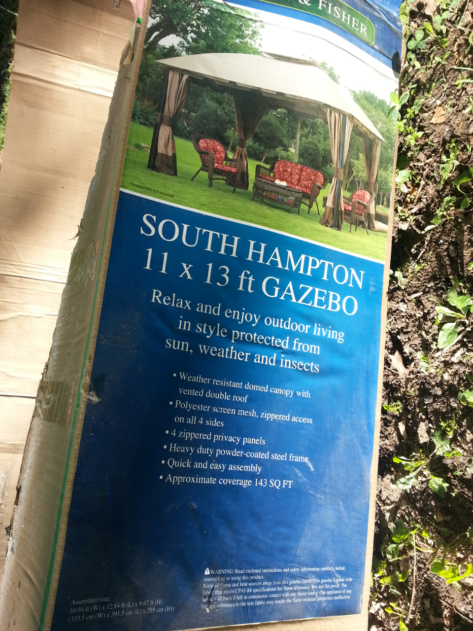 Find More South Hampton Gazebo 11x13 Only Been Set Up 1 Time All Still Like New For Sale At To 90 Off