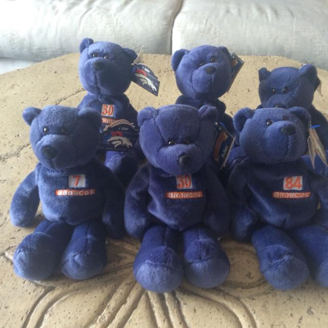 Find more 6 Official Bronco Football Beanie Babies!  7 John Elway ... 9145a9c9b