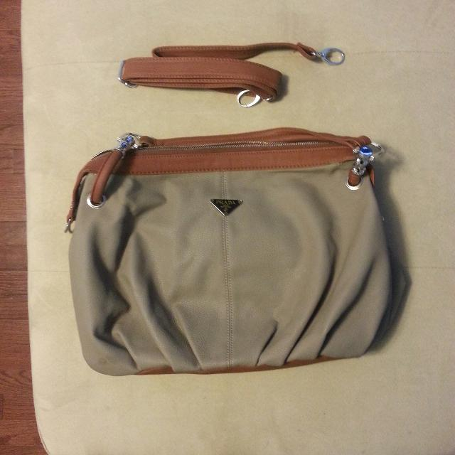 a21a5f5abd95 Find more Prada Inspired Purse - Grey And Brown for sale at up to 90 ...