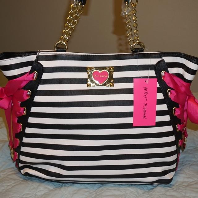 Bnwt Betsey Johnson Purse With Laced Corset Sides