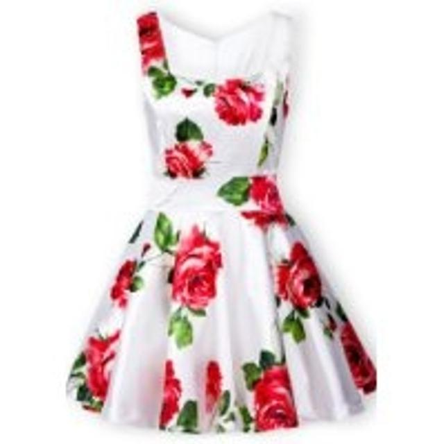 1943fb63c3d Find more White Dress With Red Roses for sale at up to 90% off