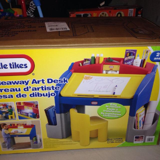 Little Tikes Hideaway Art Desk Brand New Never Been Used
