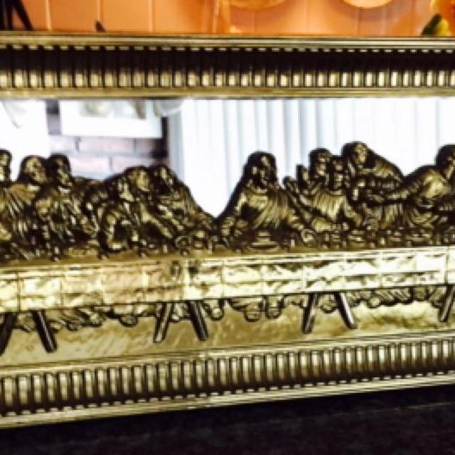 Find More Vintage Home Interior Lords Last Supper 3d Mirrored Wall
