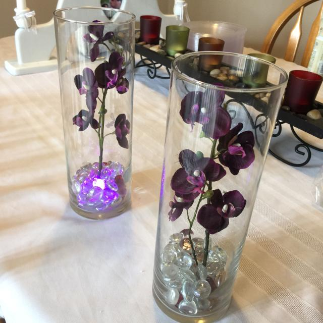 Find More Must Sell Set Of 14 Centerpiece Vases With Dark Purple