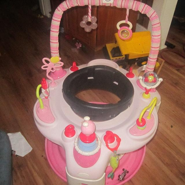 6fce6fd59d04 Find more Pink Bright Starts Exersaucer for sale at up to 90% off