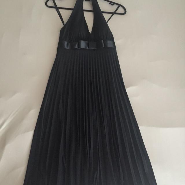 Best Melanie Lyne Evening Dress Black With Pleats For Sale In