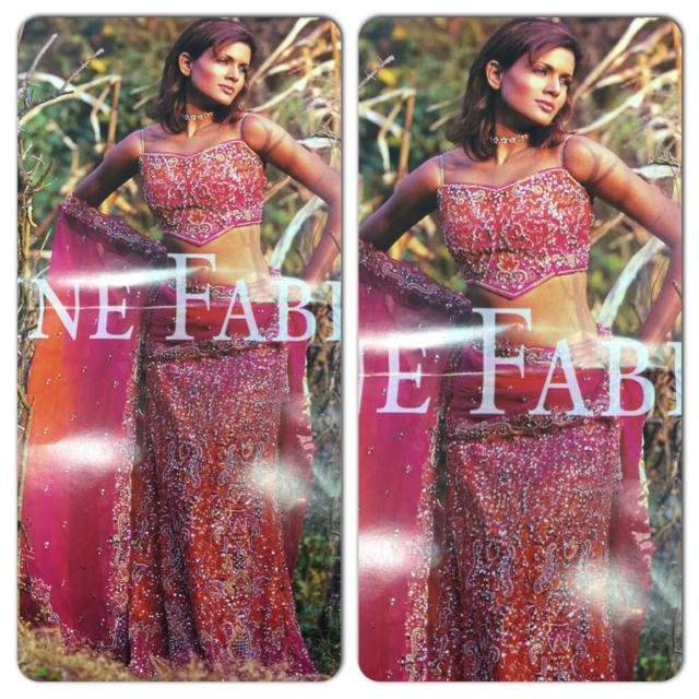 Best Bollywood Outfit Lengha Long Skirt With Blouse Back Is Open