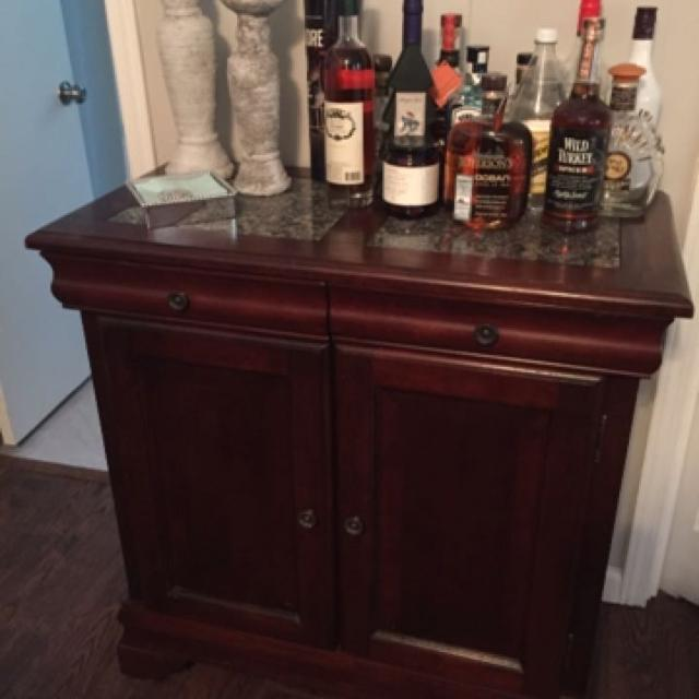 Liquor Cabinet With Faux Marble Top
