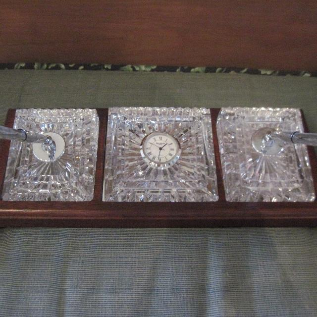 Waterford Crystal Desk Set Reduced To 85