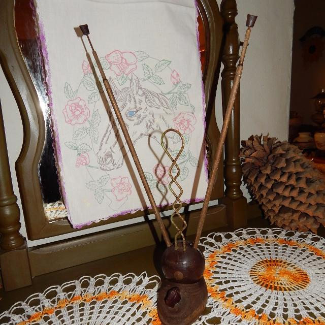Antique Television Antenna (not working) Space Age Atomic Age Decor Cast  Iron Base with Bakelite Sooo Cool!!