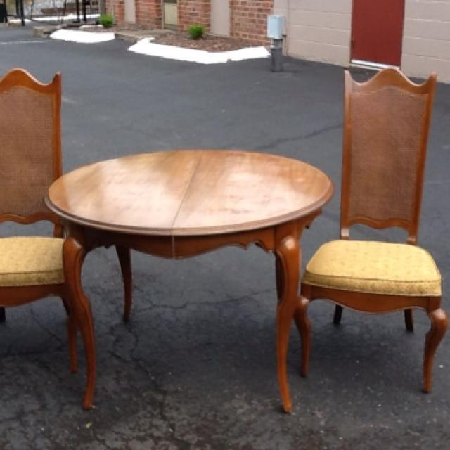 Find More Solid Wood Vintage Dining Room Set Set Includes Dining - Table pads for sale