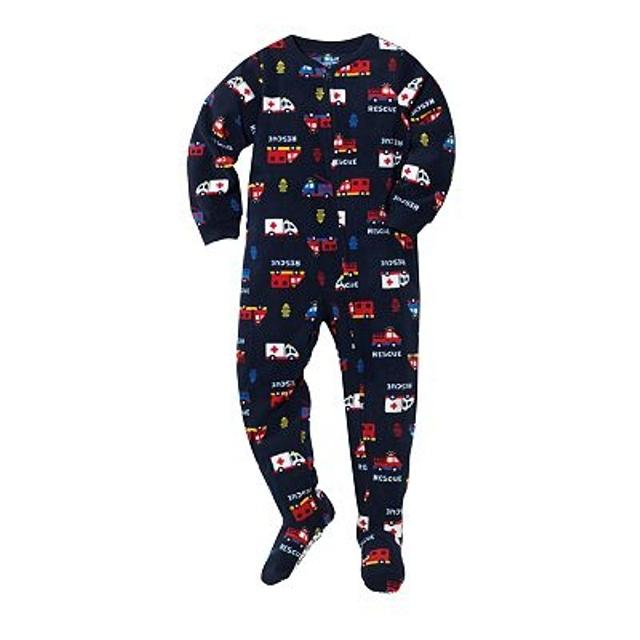 875a158ee9 Best New Rescue Firefighter Fire Truck Police Car Footed Pajama Sleeper Boy  Size 2t for sale in Staten Island