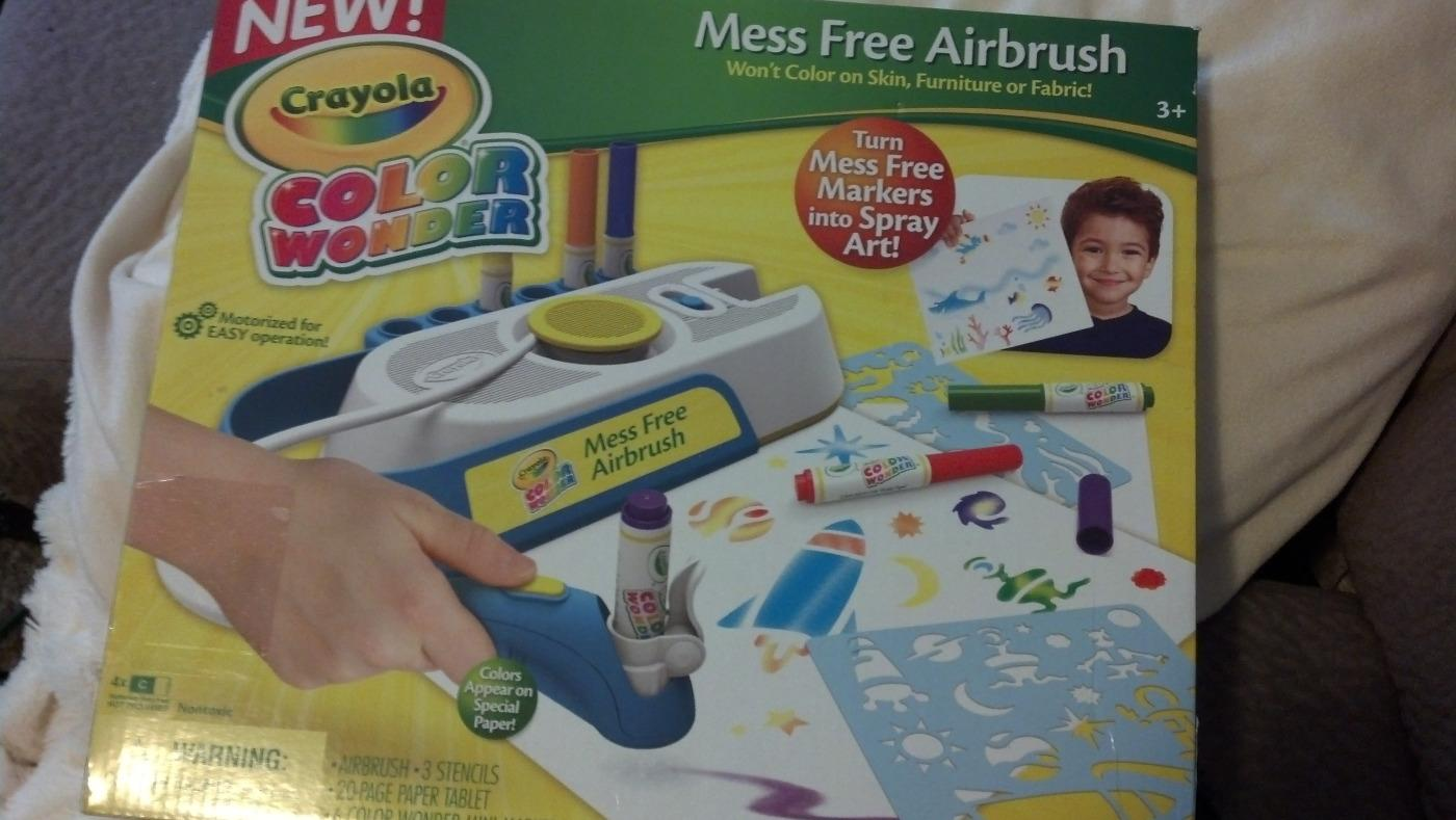 find more bnib crayola color wonder mess free airbrush kit for sale