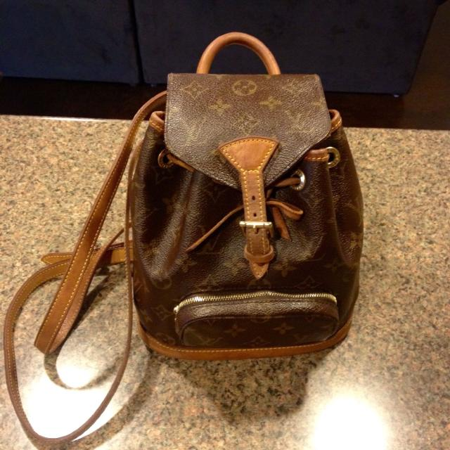 ee8b2b3f8e18 Find more Authentic Louis Vuitton Monogram Montsouris Pm Backpack ...