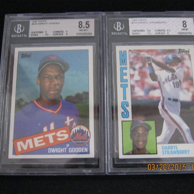 Darryl Strawberry And Dwight Gooden Baseball Cards