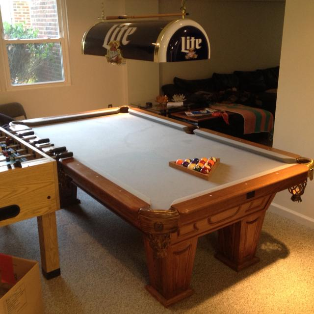 Best Piece Slate Top Kasson Pool Table Table Is Disassembled - Inside a pool table