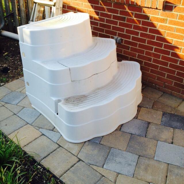 Wedding Cake Pool Steps.Inground Pool Steps Price Reduced