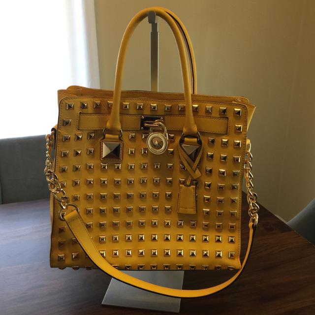 ffb772a39cbe Best Michael Kors Hamilton Studded Citrus Bag. Large North South Tote.  Genuine Leather. It Does Have A Dis Colored Spot On The Back. for sale in  Nashville, ...