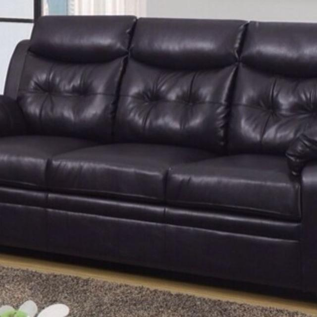 Espresso Leather Sofa