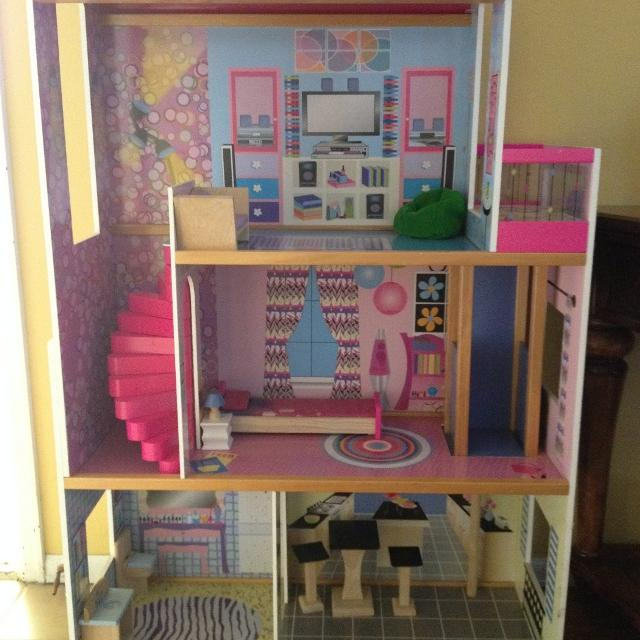 Barbie House ~ Doll House ~ with Elevator & Furniture!