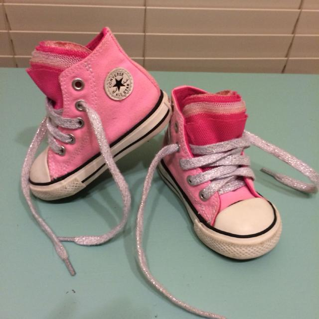 d0fd197a4f56 Find more Size 4 Converse Chuck Taylor With Ruffle Tongue Pink High ...