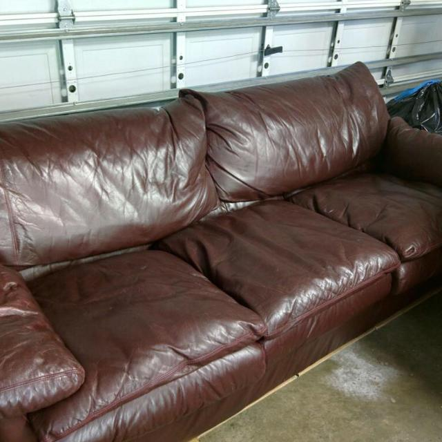 Used, Real leather couch