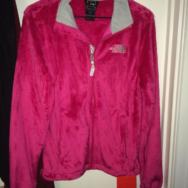 8c52d4c5a North Face Ostio Fuzzy Hot Pink Jacket Brand New W/ Tags Size Small