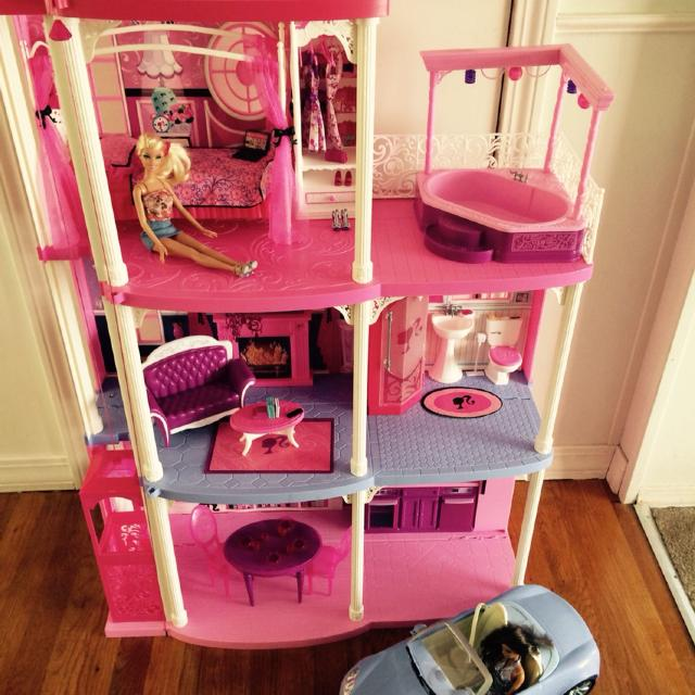 Find More Barbie Dream House For Sale Comes With All The