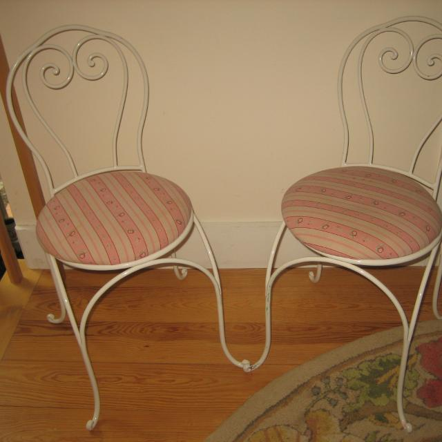 2 Kid Size Ice Cream Parlor Chairs 25 For Both