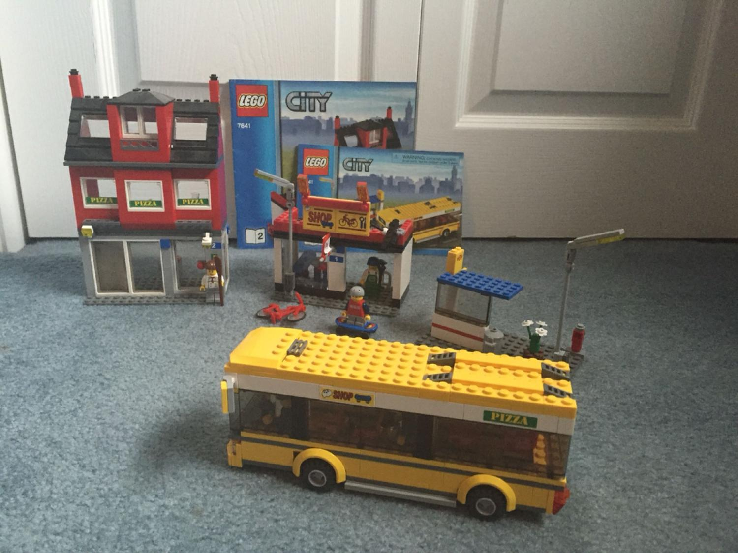 Find More Lego 7641 City Corner Pizzeria Bike Shop Bus And Bus