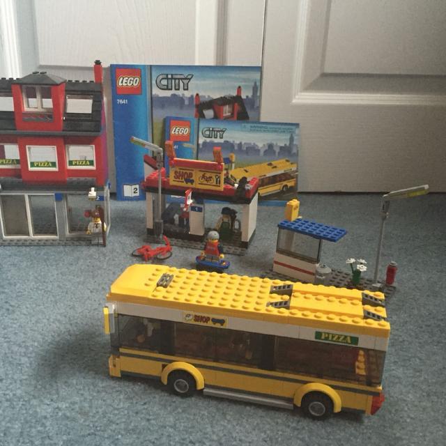 Find More Lego 7641 City Corner Pizzeria Bike Shop Bus And Bus