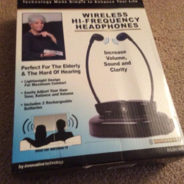 Hearing problem? Solutions wireless high-frequency headphones  Increase  volume, sound and clarity while watching TV