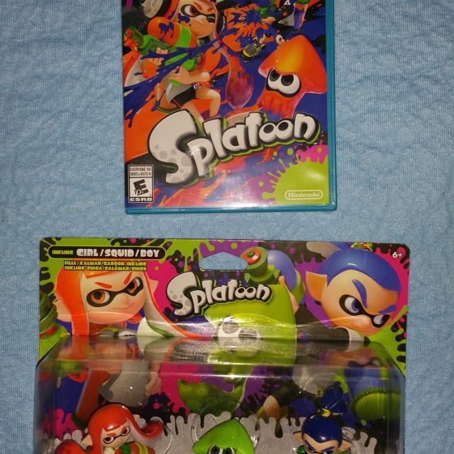 Splatoon 3 pack Amiibo and Wii U game  New in box